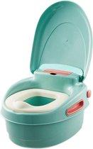 Housie 3-in-1 Plaspotje – Plaspotje kind – Potje peuter – Potje met deksel – WC potje peuter – WC Verkleiner – Opstapje - Groen