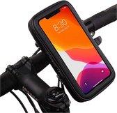 Telefoon houder voor fiets, waterdicht, universeel, geschikt voor telefoons tot 16,5 cm (6,5 inch), Fietshouder bevestiging aan het stuur, telefoonhouder voor motorfiets