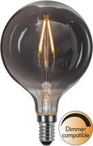 Star Trading Smoked glass (grijs) LED lamp - 1.5 W - Warm wit - D 8 cm - H 12.4 cm - Dimbaar - E14