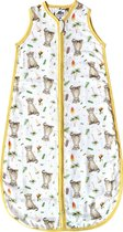 Slaapzak baby 90 cm hydrofiel voor zomer - Baby luipaard print - Super zacht bamboe textiel - Baby 6 - 18 mnd - Eigen ontwerp geschilderd door Mies