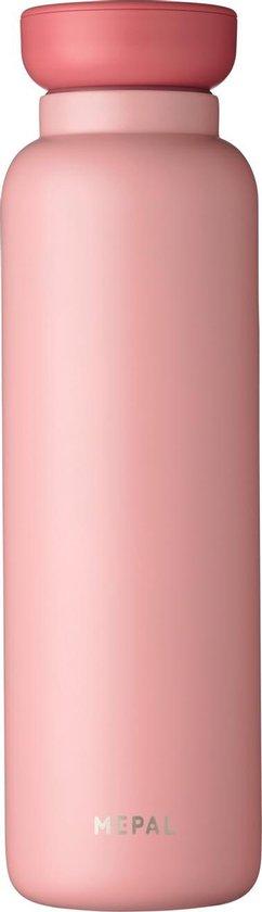 Mepal – Isoleerfles Ellipse 900 ml – houdt je drankje 12 uur warm en 24 uur koud – Nordic pink – Geschikt voor bruiswater – Thermosfles – lekdicht
