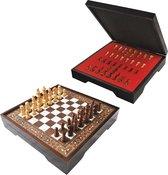 Schaakbord - Compleet met houten schaakstukken - Groot schaakbord - Schaakspel - Schaakset - Bordspel - Volwassenen - Schaken - Chess - 40 x 40 cm