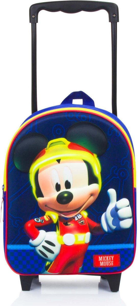 Mickey Mouse Believing (3D) Rugzaktrolley 3D - 9,3 l - Blauw
