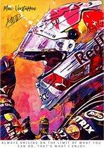 Poster Max Verstappen | Formule 1 | F1 | Red Bull racing | Auto Kunst | A2 | 60x42 | Hoogwaardig glans | Geschikt om in te lijsten