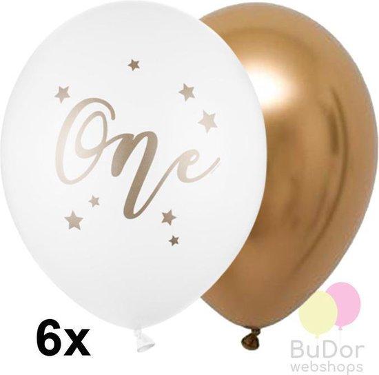 Ballonnen set 1 jaar: wit met