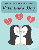 Animals Valentine's Day Coloring Book for Kids
