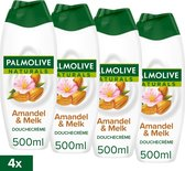 Palmolive Naturals Amandel Douchegel - 4 x 500ml - Voordeelverpakking
