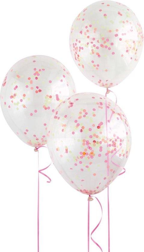 Ballonnen Confetti Neon Gekleurd 30cm 6st