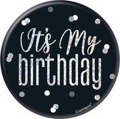 Button It's My Birthday Zwart 7,6cm