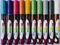 Raamstiften - Krijtstiften - krijtmarkers - glasstiften - raamtekenstiften - window markers - set van 10 Stiften - INCL GOUD & ZILVER - Metallic