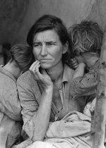 Poster Migrant Mother - Great Depression - 70x50 cm - Historische Foto Verenigde Staten