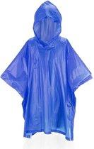 Kinder regen poncho blauw