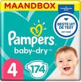 Pampers Baby-Dry Luiers - Maat 4 (9-14 kg) - 174 stuks - Maandbox