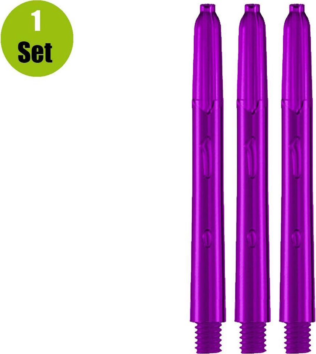 Glow Dart Shafts - Paars - Medium - (1 Set)