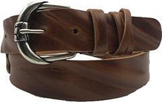 Bruine riem - MasterLux Saddle  Dames riem - Broekriem Dames - Dames riem -  Dames riemen - heren riem - heren riemen - riem - riemen - Designer riem - luxe - Bruin