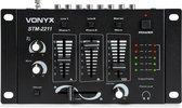 Mengpaneel - Vonyx STM-2211B  4-kanaals mengpaneel met 3x lijningang + microfoon ingang - Zwart