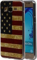Wicked Narwal   Amerikaanse Vlag TPU Hoesje voor Samsung Galaxy On 5 USA