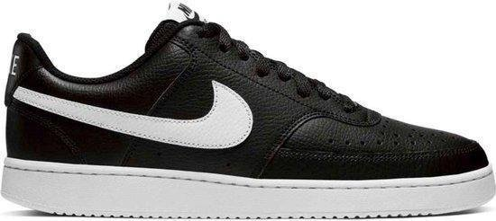 Nike Court Vision Low Heren Sneakers - Black/White-Photon Dust - Maat 41