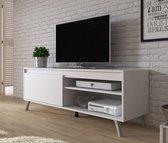 Meubella - TV-Meubel Danon - Wit - 138 cm