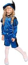 Roetveeg Pieten kostuum blauw/zwart voor kinderen - Pietenpak 128 (7-8 jaar)