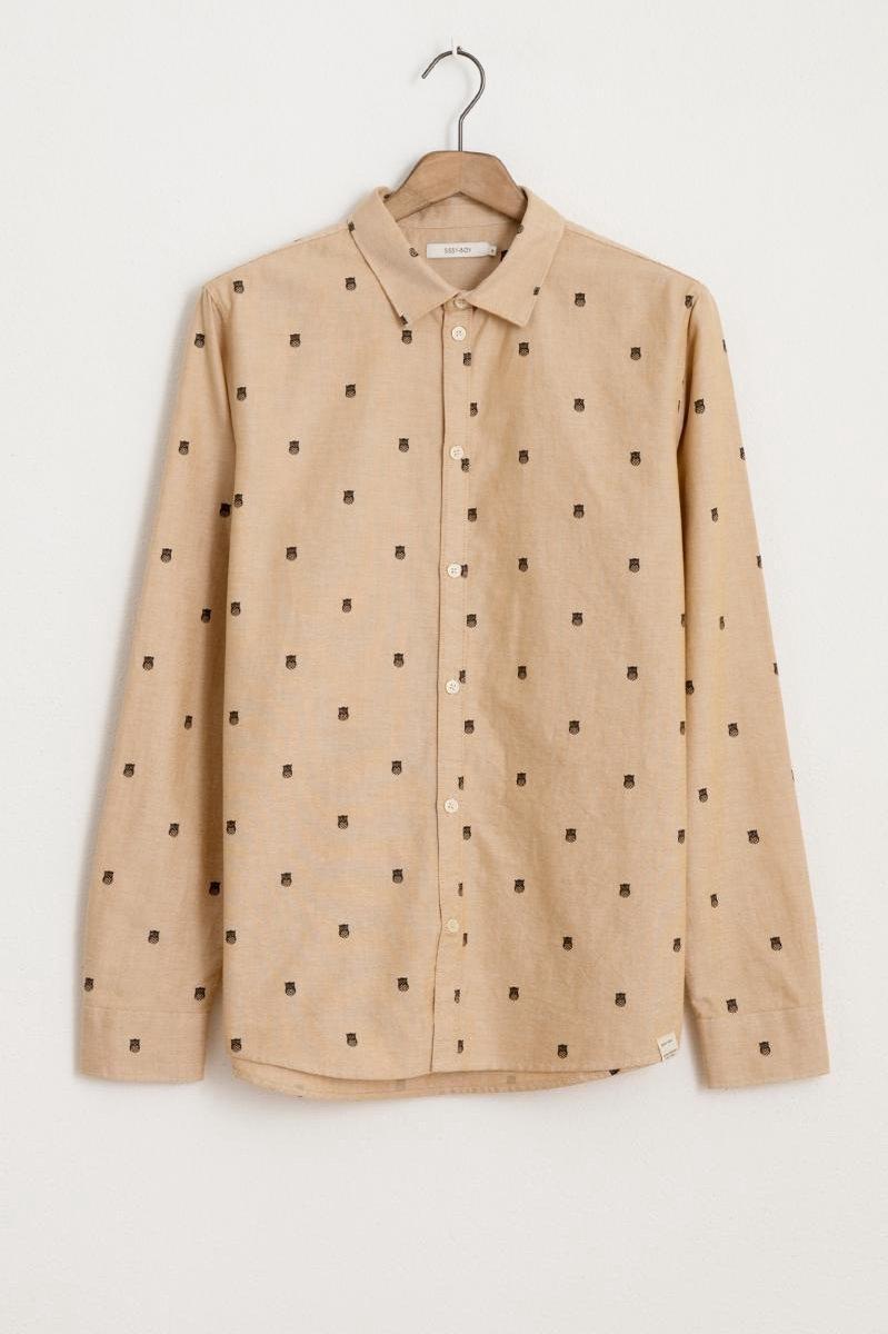 Sissy-Boy - Lichtgeel oxford overhemd met print