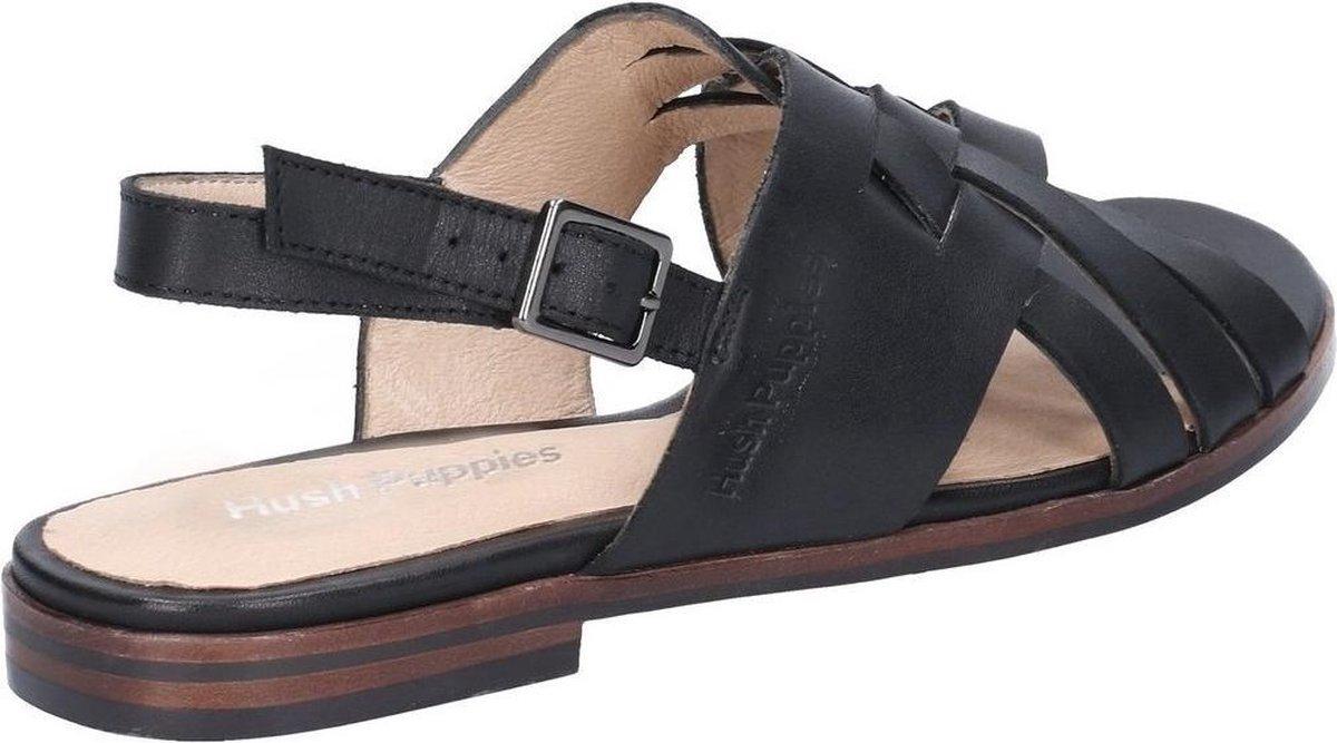 Hush Puppies Dames/dames Riley Buckle Leather Strap Sandal (Zwart)