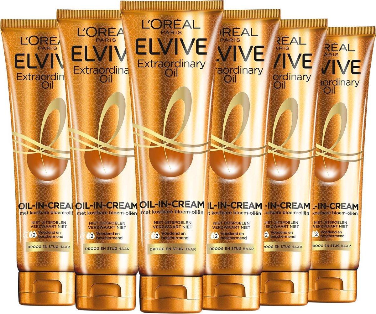 L'Oréal Paris Elvive Extraordinary Oil Haarcrème - 6 x 150 ml - Voordeelverpakking - L'Oréal Paris