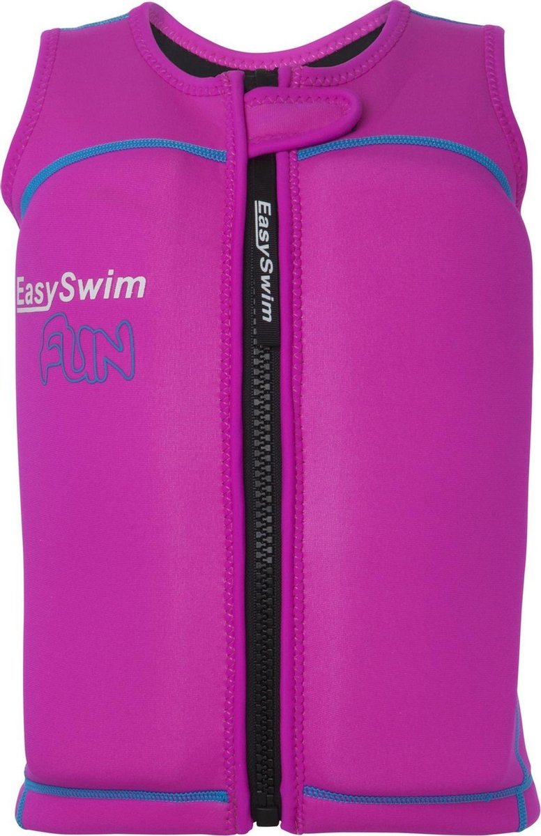 EasySwim Fun - Zwemvest/Drijfvest kind - Roze - Maat M: 17-23 kg