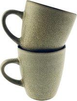 Orange85 Koffiekopjes - 180 ML - Beige - Robuust - 2 Stuks - Set - Gekleurd - Koffie - Nespresso