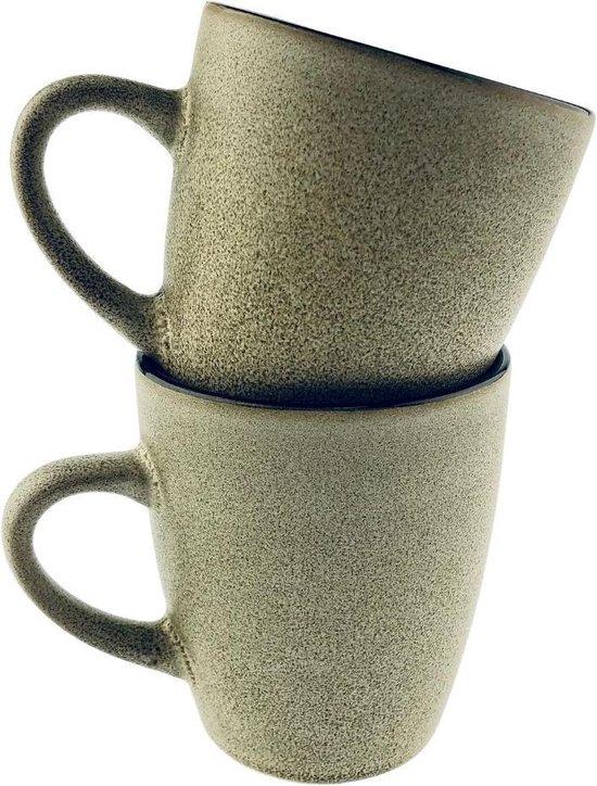 Orange85 Koffiekopjes - Beige - Robuust - 2 Stuks - Set - Gekleurd - Koffie -