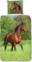 Good Morning Dekbedovertrek Rennend Paard 135 X 200 Cm Katoen