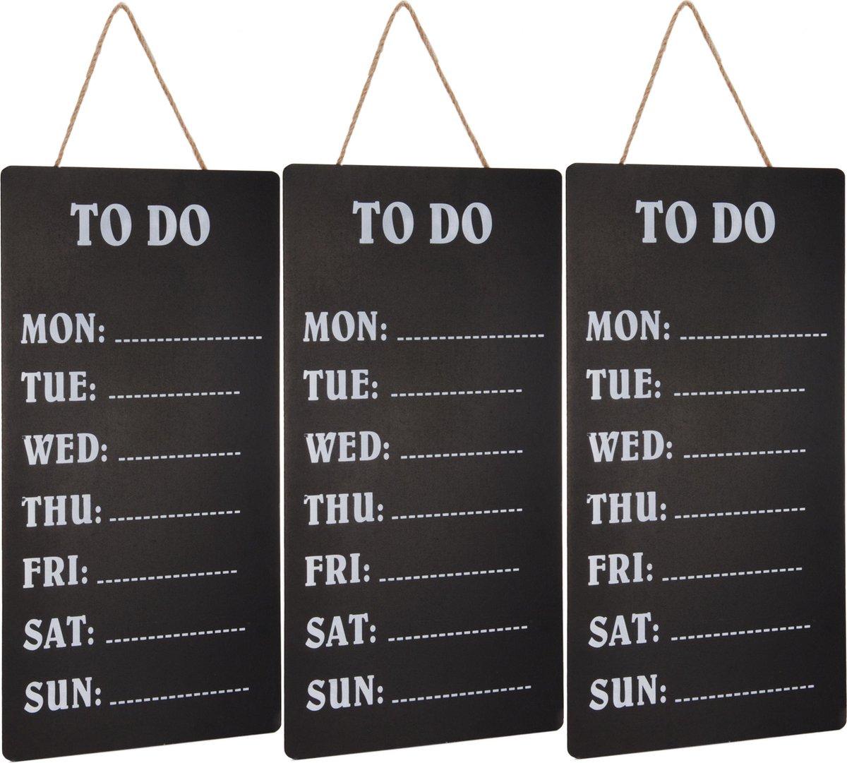 Merkloos / Sans marque 3x Weekplanners To Do schrijfbord/memobord 30 x 60 cm Woonaccessoires Huisdecoratie Kantoorbenodigdheden Weekplanners Planborden Memoborden/schrijfborden To Do borden online kopen
