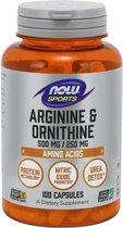 Now Arginina Y Ornitina 500-250 Mg 100 Caps