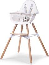 Childwood Evolu 2 - Kinderstoel 2 in 1 met beugel - Naturel/Wit