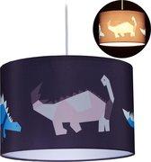relaxdays kinderlamp dino - pendellamp dinosauriër - hanglamp kinderkamer - E27 fitting