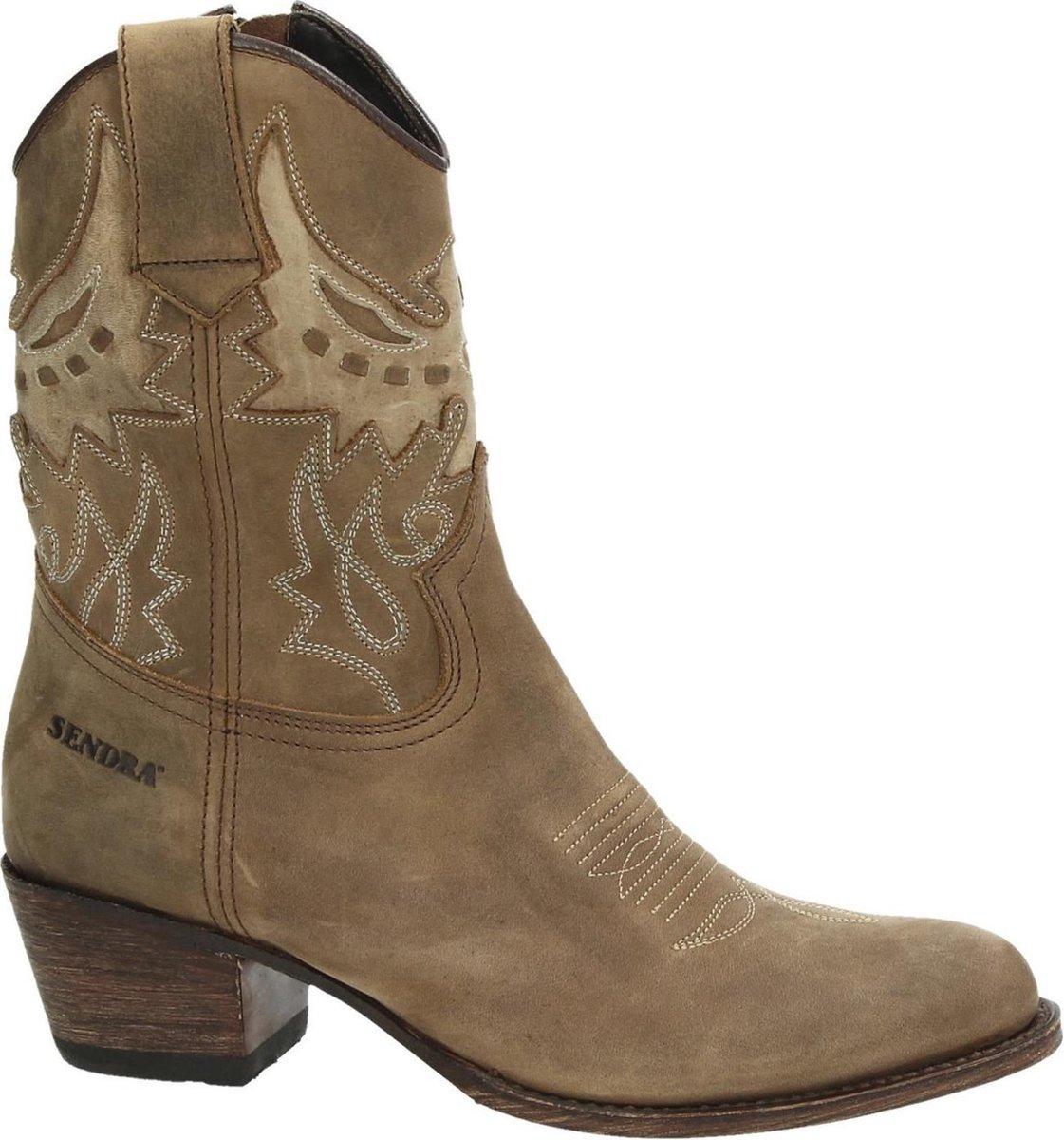 Sendra 16227 Debora cowboylaars Camel Maat 39