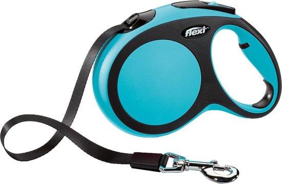 Flexi New Comfort Tape - Hondenriem - Blauw - L - 5 m - (<50 kg)