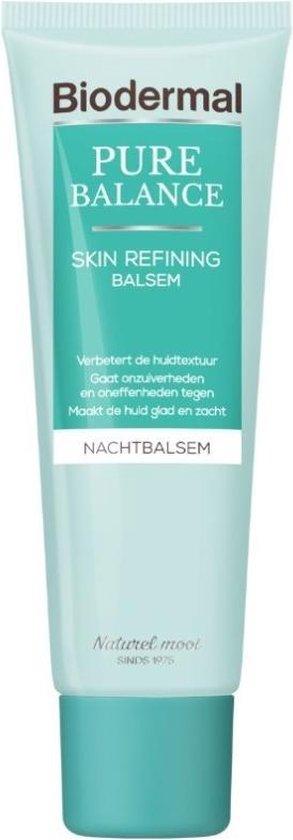 Biodermal Pure Balance Skin Refining Balsem Nachtcreme - Onzuiverheden en oneffenheden - 50ml