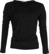 The Vintage Longsleeve Shirt - Black - Medium - bamboe kleding dames