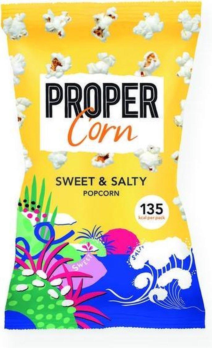 Propercorn Popcorn sweet & salty 30 gram