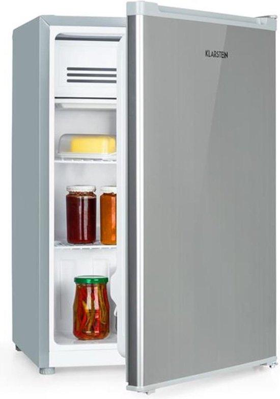 Koelkast: Klarstein Delaware Koelkast 76 liter  met 4 liter-vriesvak - thermostaat met 5 standen - Compressor koelsysteem, van het merk Klarstein