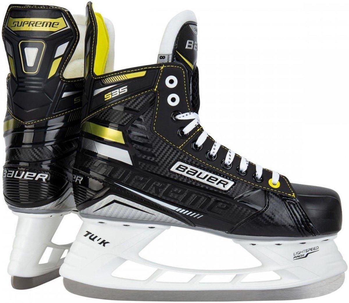 Bauer Schaatsen - Maat 38 - Unisex - zwart/geel/wit