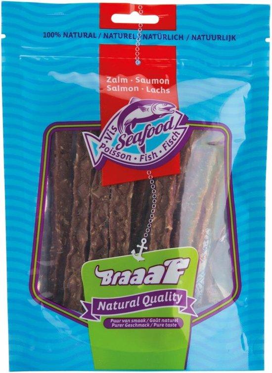 hondensnack zalmstrips braaaf 70 gram