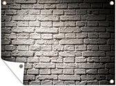 Brick Wall Background tuinposter los doek 40x30 cm - klein - Tuindoek / Buitencanvas / Schilderijen voor buiten (tuin decoratie)