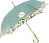 Perletti Paraplu Unisex 102 Cm Lichtgrijs