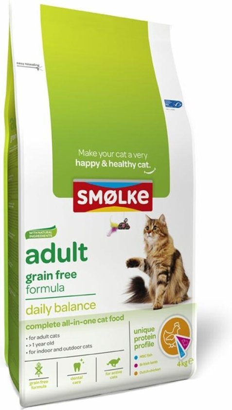Smolke Cat Adult - Graanvrij - Kattenvoer - 4 kg