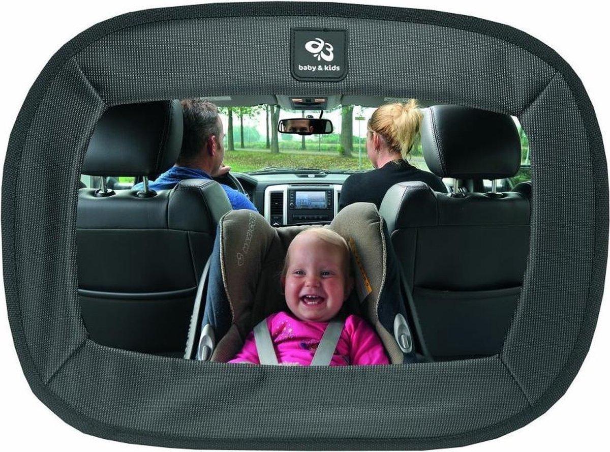 A3 Baby & Kids extra grote autospiegel - zwart