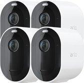 Arlo Pro 3 Draadloze IP-Camera's - Basisstation + 4 beveiligingscamera's