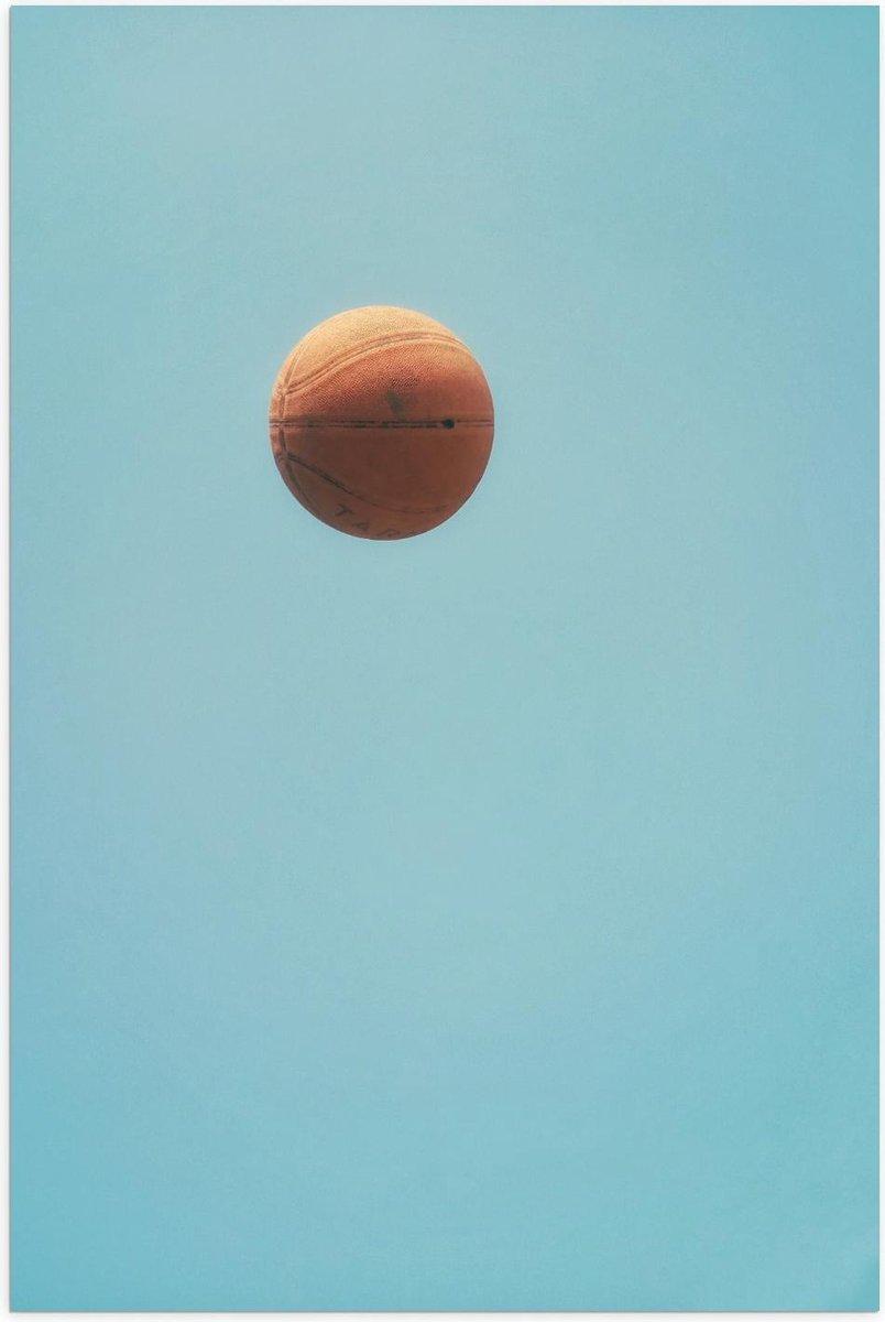 Poster – Basketbal in de Lucht - 40x60cm Foto op Posterpapier