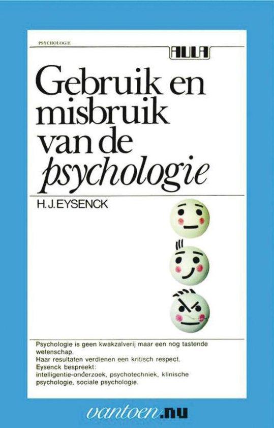 Boek cover Vantoen.nu  -   Gebruik en misbruik van de psychologie van H.J. Eysenck (Paperback)
